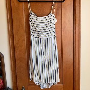 Forever 21 White, Navy and Yellow Sundress NWOT